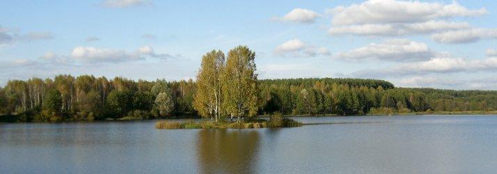 озеро с островком
