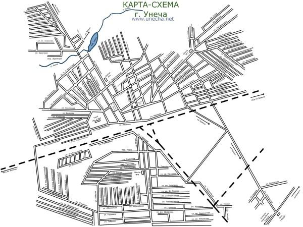 карта-схема унечи